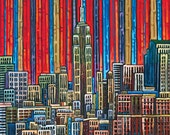 Empire State Building, NYC Skyline, Manhattan, New York Skyline, 12x16 Art Print
