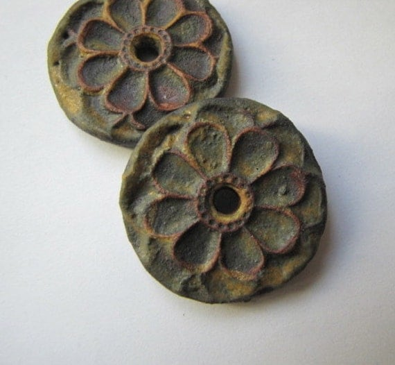 SOLD   Rusty single hole Fastener or pendant