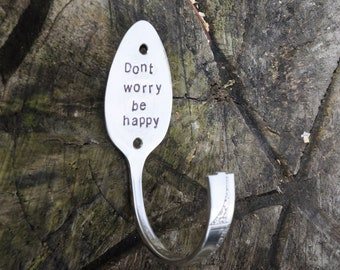 Don't Worry Be Happy Spoon Hook