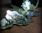 Thunderclouds: Sterling Silver Necklace Labradorite Aquamarine Moonstone
