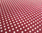 SALE Japanese Quilting Cotton Fabric - Dark Wine Red Tiny Dots By The Yard (TD14) - Half Yard