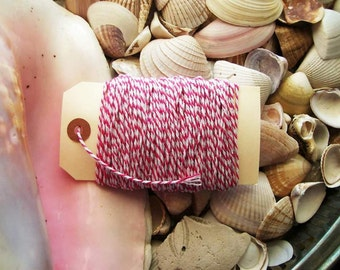 Bakers Twine-25 yards- pink and White
