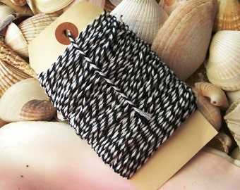 Bakers Twine-25 yards- black and White