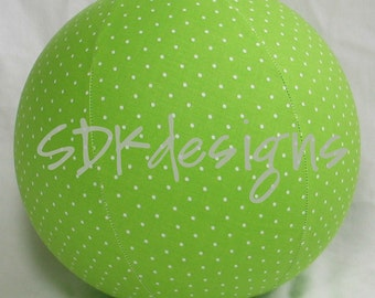Balloon Ball - Lime Green & Mini White POLKA dot - Great Party decor or gift TOY for all ages