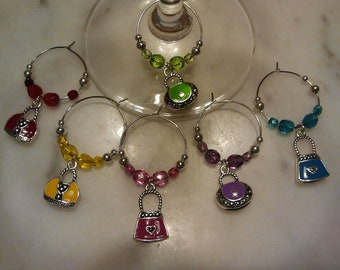 Purses Wine Charms w pouch