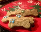 Gourmet Dog Treats - Paw Print Dog Bones - Organic Dog Treats All Natural Vegetarian - - Shorty's Gourmet Treats