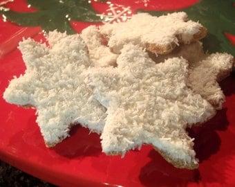 Organic Dog Treats - Snowflake Cookies- All Natural Dog Treats Organic Vegetarian - Shorty's Gourmet Treats