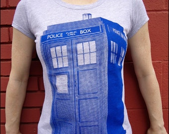 Clearance-- TARDIS Womens Shortsleeve tshirt