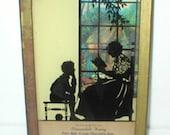 Reverse Silhouette Painting Advertisement Antique