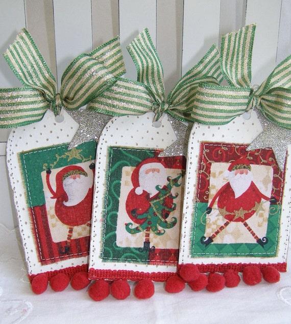 SALE REDUCED PRICE Whimsical Santa Christmas Gift Tags