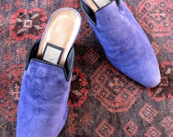 Lovely vintage Nina Periwinkle Blue Mules from Basia's  Private Collection