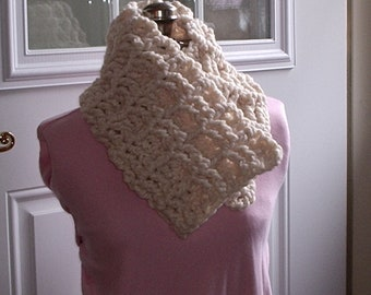 Easy Scarf PATTERN Crochet Chucky Cowl Scarf EASY, PDF, free shipping