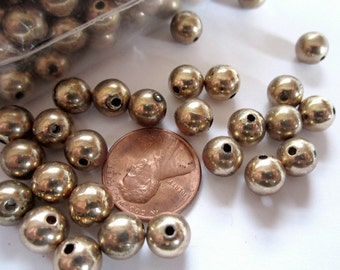 Vintage 48 Gold Plated 8mm Beads AL2