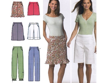 Simplicity 4701 - Misses Skirt Sewing Pattern - Casual Pants Pattern - Size 4, 6, 8, 10 - Uncut, Factory Folds