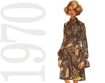 70s Dress Sewing Pattern - Separates Vintage Pattern - B34 Vintage Pattern - Simplicity 9085 - Uncut, Factory Folds