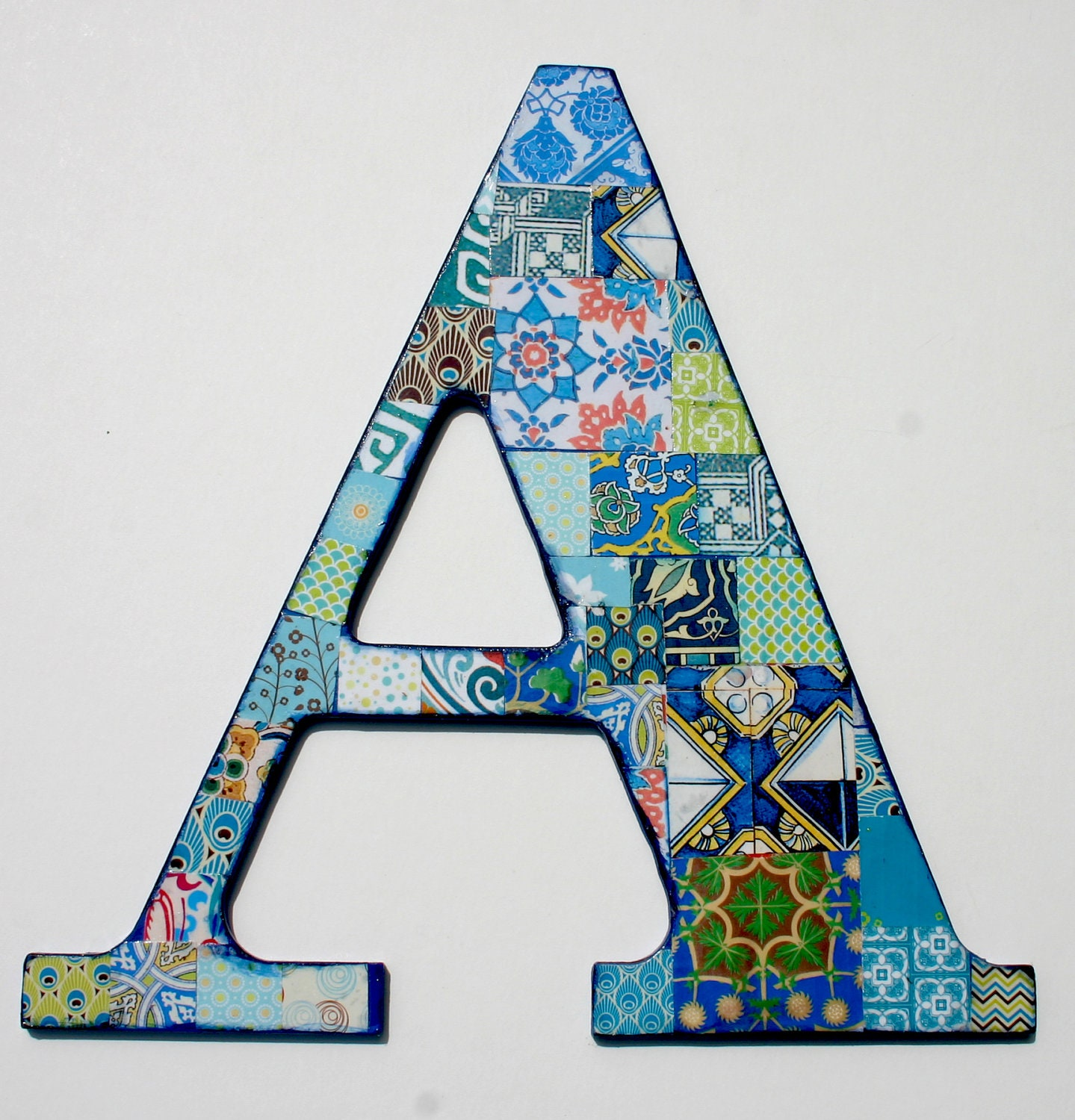 Wooden letters for nusery nursery letter a decoupage letter for Decoration 5 letters