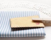 Blue and White Striped Cotton Polyester Fabric in Fat Quarter - Twill Weaved (Zakka)