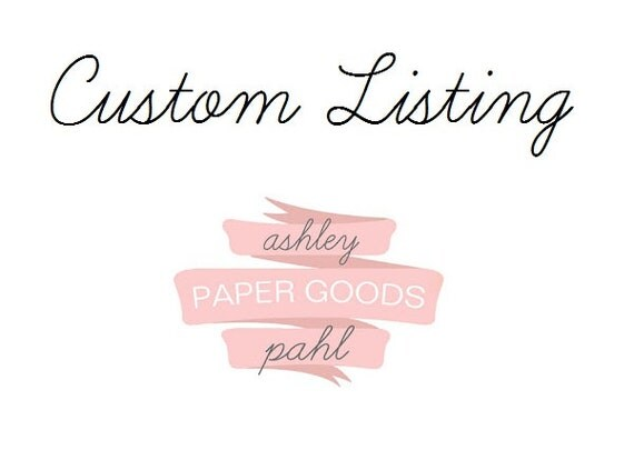 Custom set of personalized wedding note cards