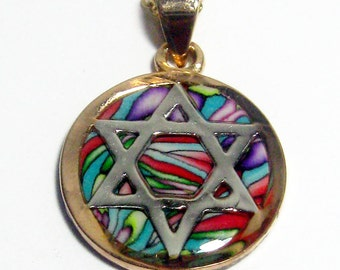 Beautiful Gold Filled Star of David Judaica Chain Pendant by Orly Kliger
