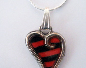 Unique Millefiori Heart pendant Chain by Orly Kliger