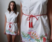 BOTTLEOFBREAD Embroidered Tunic Dress with Tassels