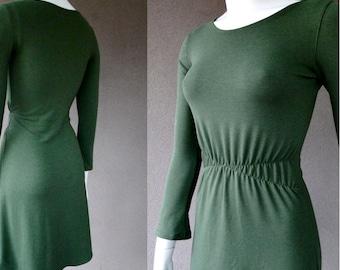 SALE Organic cotton tunic dress, sweater dress, fitted cotton tunic dress,  organic tunic, handmade organic clothes