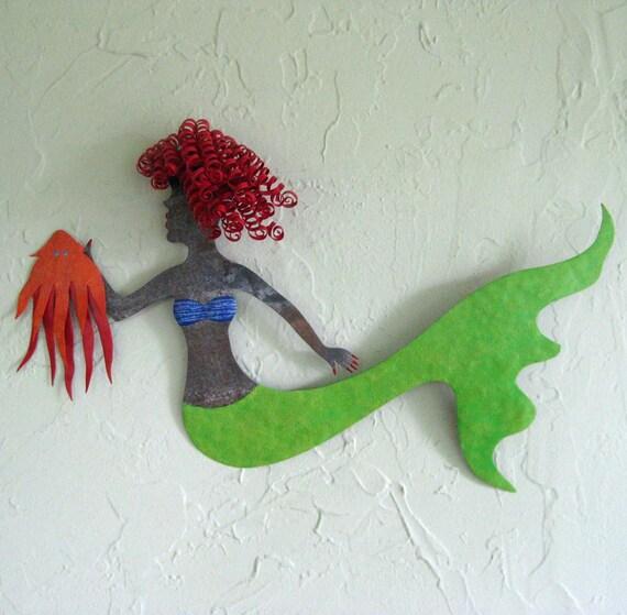 Metal Marine Wall Art Decor Mermaid And By Frivoloustendencies