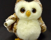 "Felix The Harry Potter Messenger Owlet  -  With Your Choice Of One Of The Four Houses At  ""Hogwarts School Of Witchcraft and Wizardry"""