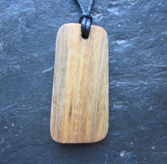 "Natural Wood Pendant - Birch/Berkano - Unique Runic ""Secret Sigil"" Design."