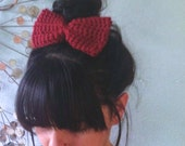 crochet bow barrette . eco friendly . vegan . PICK YOUR COLOR