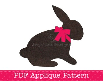 Rabbit Applique Template, Bunny, Animal, DIY, Children, PDF Pattern by Angel Lea Designs, Instant Download