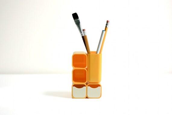 Mod Yellow Desk Organizer