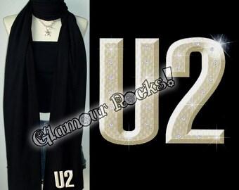 U2 Rhinestone Crystal Scarf Wrap American Apparel