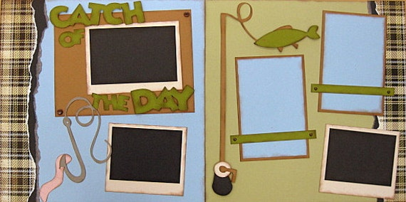 Catch Of The Day  2-page 12x12 do-it-yourself scrapbook pagekit