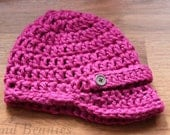 Customize your Bend Beanies Ski Bunny Brimmed Womens Hat Hand Crocheted Newsboy