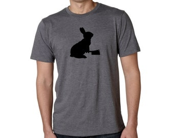 Rabbit T-Shirt - SOFT Sustainable Tee Shirt - BUNNY with a CLEAVER