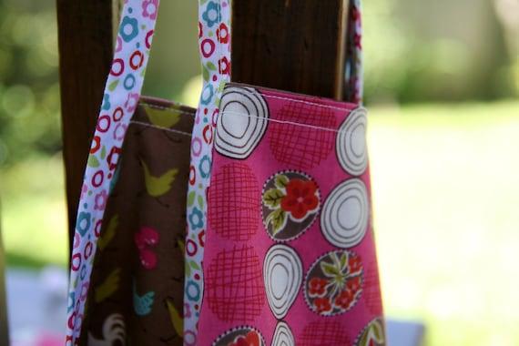 reversible cotton apron - toddler preschool sized - vintage inspired - little farm girl