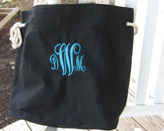 Monogrammed color slouch bags totes