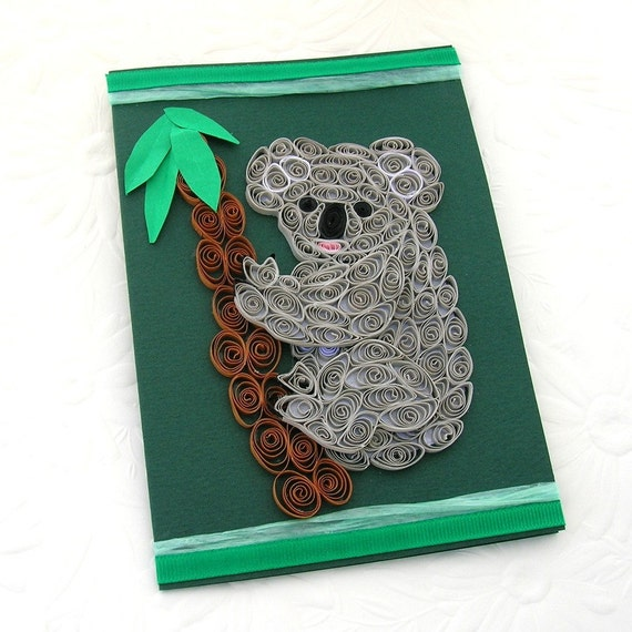 Paper Quilled KOALA Greeting Card Australia Paper Quilling – Birthday Card Australia