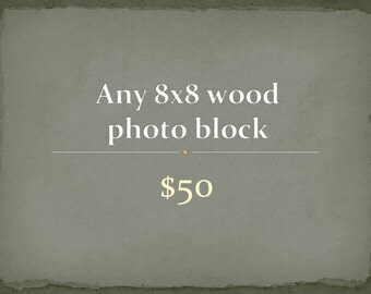 Photography - any 8x8 wood photo block - wood mounted photographs - travel - paris - nature photography - home decor