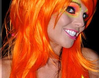 Orange Octane Wig