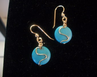 Gold Wire Wrapped Turquoise