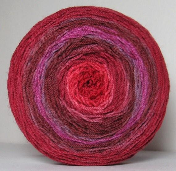 Sock Garden Party Cake - Hand Painted Tonal Yarn - Autumn Tones