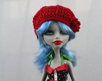 Red Crochet Hat for Monster doll