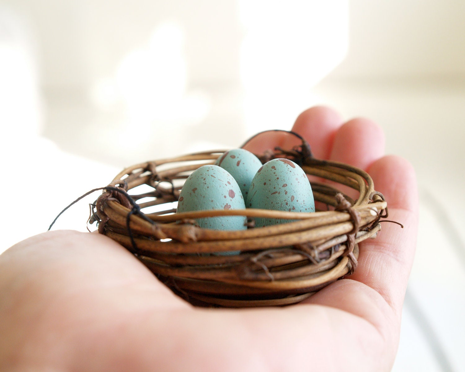 Natural christmas ornaments nest woodland decorations by