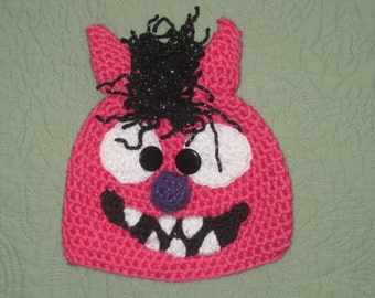 Little Monster hats made in size newborn to adult