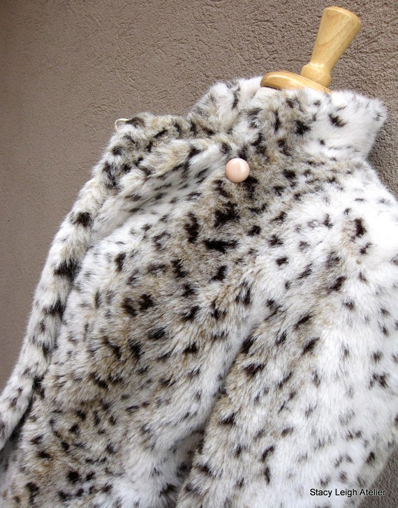 Faux Fur Lynx Coat Size 8 Union Made by Calcutta in the USA