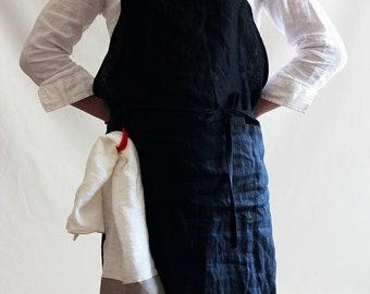 VINTAGE full apron....linen