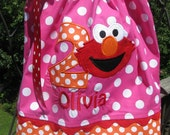 Adorable Elmo pink and orange birthday pillowcase dress,elmo birthday,1st birthday, any number and name