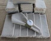 50 Cloth Napkins Unbleached Cotton